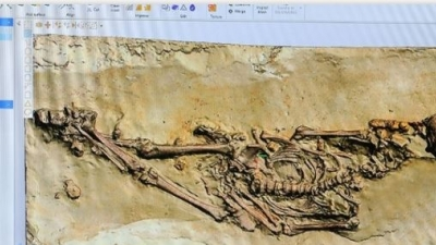 Skeleton from the seventh century slowly reveals secrets